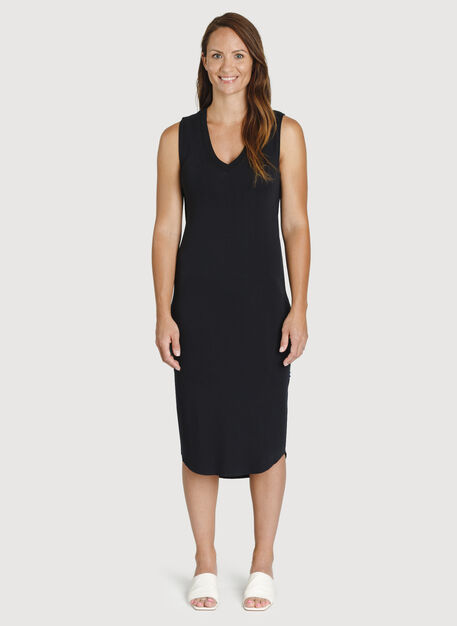 Good Feels Sleeveless Dress, BLACK | Kit and Ace