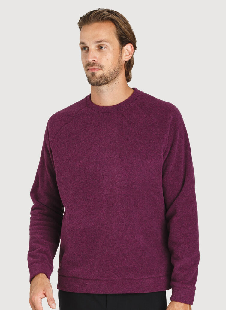 Snug Crewneck Sweater, Dark Plum | Kit and Ace