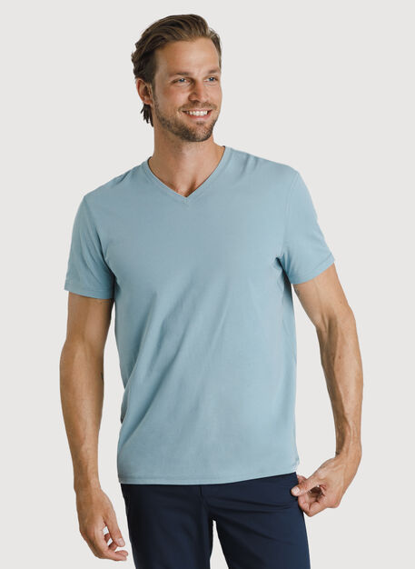 Ace Pima V Tee, Ocean Blue | Kit and Ace