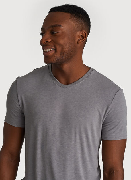 Ace Tech Jersey V Tee Standard Fit, HTHR Light Grey | Kit and Ace
