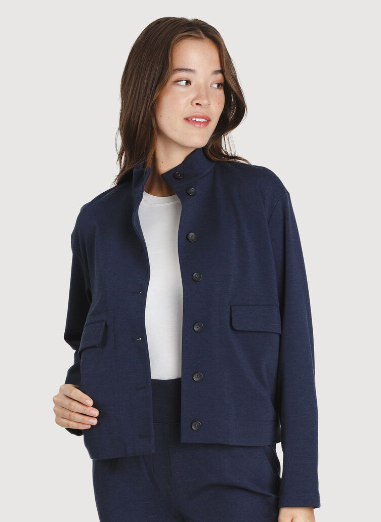 Mulberry Jacket, HTHR DK Navy | Kit and Ace