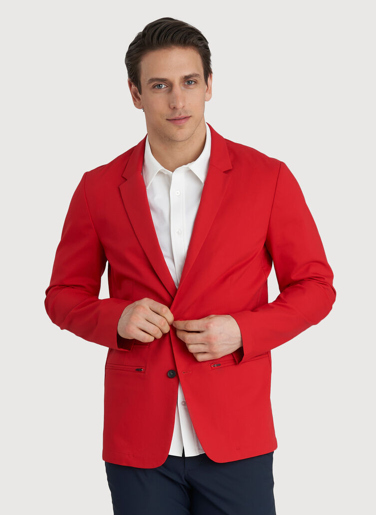 Commute Blazer, Crimson | Kit and Ace