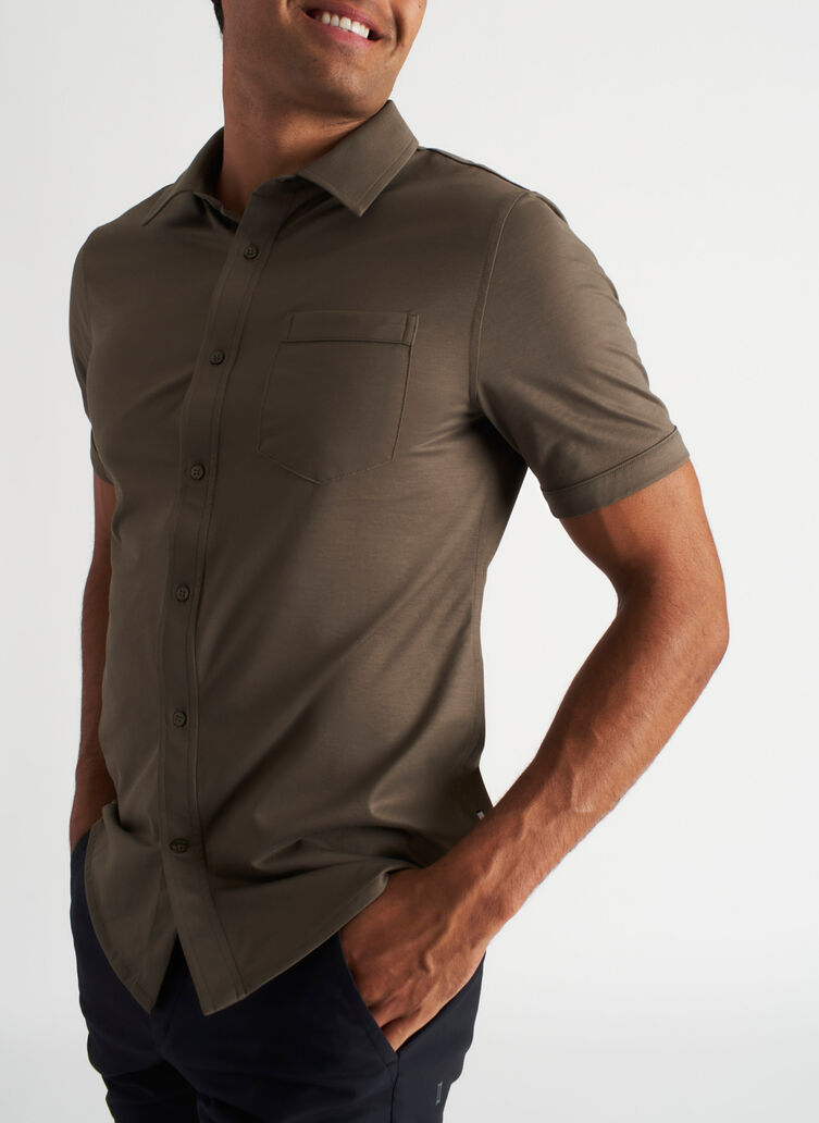 City Tech Classic Short Sleeve Shirt, Sage | Kit and Ace