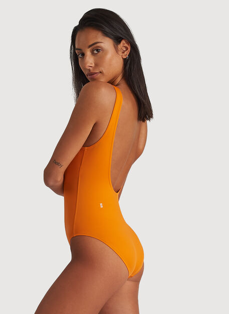 Kits Scoop Back Swim One Piece, Fanta Orange | Kit and Ace