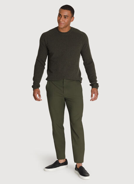 Cashmere Crew Sweater, HTHR Hunter | Kit and Ace