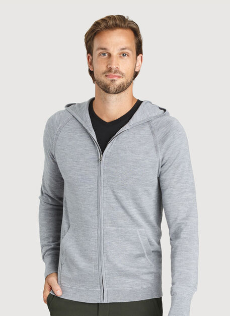 A to B Merino Hoodie, Heather Grey | Kit and Ace