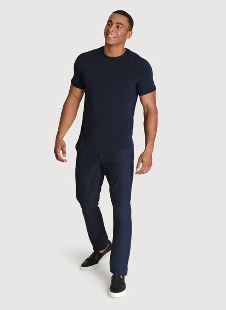 Cuffed Brushed Crew, DK Navy | Kit and Ace