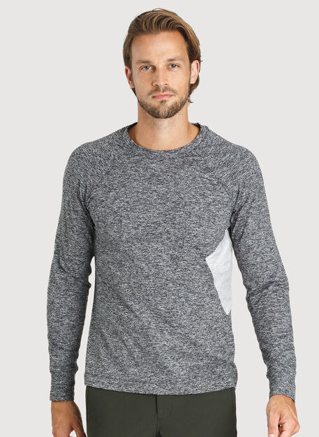 Side Storage Long Sleeve, HTHR Dk Grey | Kit and Ace