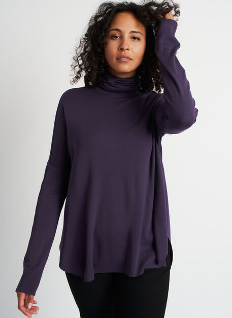 Burrow Turtleneck, Aubergine | Kit and Ace