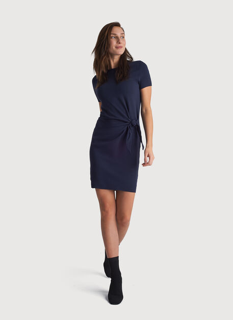 Brushed Tie Dress, DK Navy | Kit and Ace