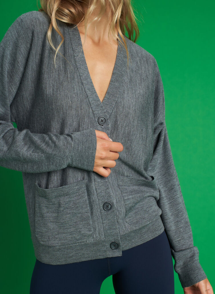 Carry On Cardigan, Heather Grey | Kit and Ace