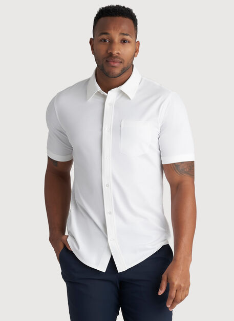 City Tech Classic Short Sleeve Shirt, Bright White | Kit and Ace