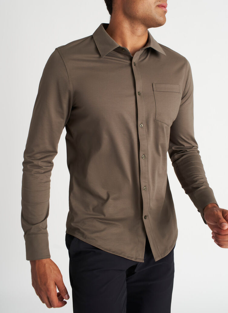 City Tech Classic Shirt, Sage | Kit and Ace