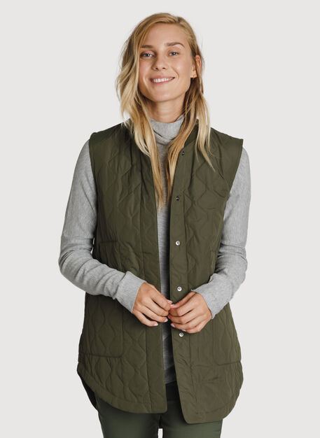 Kit Quilted Vest *Lightweight, Field | Kit and Ace