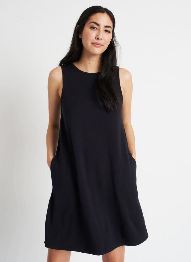 So Soft Dress, Black | Kit and Ace