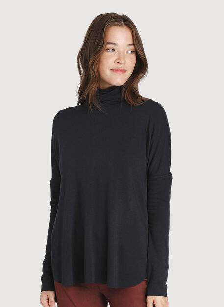 Burrow Turtleneck, Black | Kit and Ace
