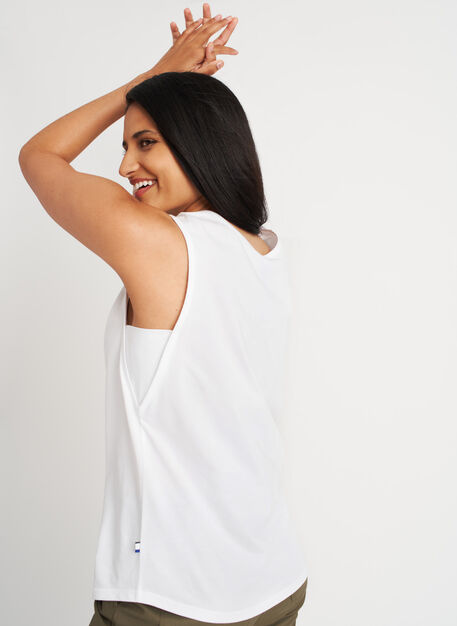 Be Free Tank, Bright White | Kit and Ace