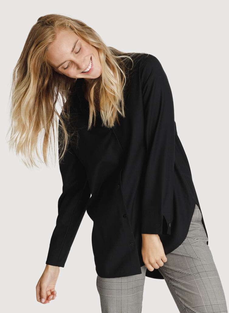 Button Up Blouse, Black | Kit and Ace