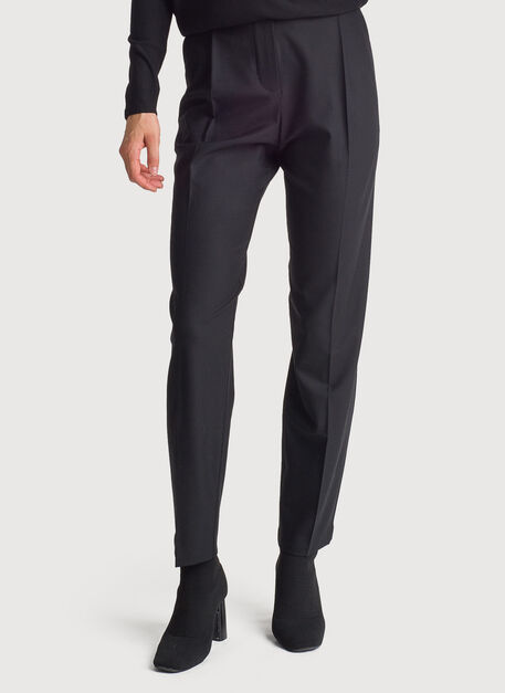 Stretch Suiting Pleated Trouser, BLACK | Kit and Ace