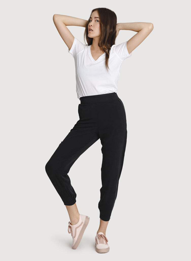 Easy Breezy Stretch Jogger, BLACK | Kit and Ace
