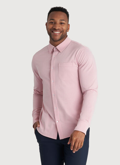 City Tech Classic Shirt, Dusty Rose Chambray | Kit and Ace