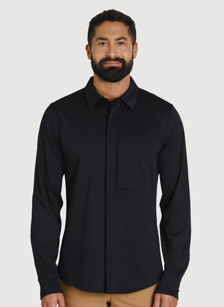 City Tech Commuter Shirt, BLACK | Kit and Ace