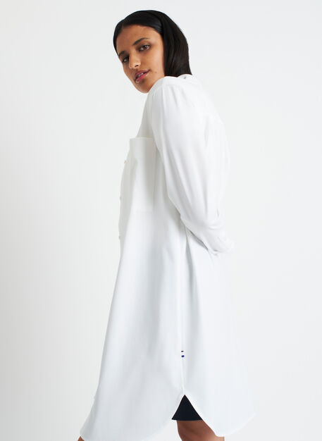Moving Onward Shirt Dress, Bright White | Kit and Ace