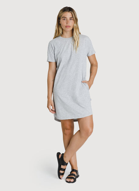 Kit Pima Tee Shirt Dress, HTHR Metal | Kit and Ace