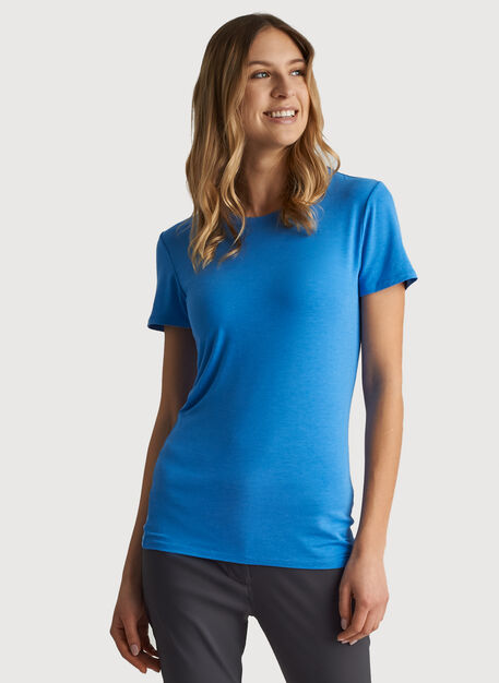 Kit Tech Jersey Crew Tee Slim Fit, HTHR Sail Blue   Kit and Ace