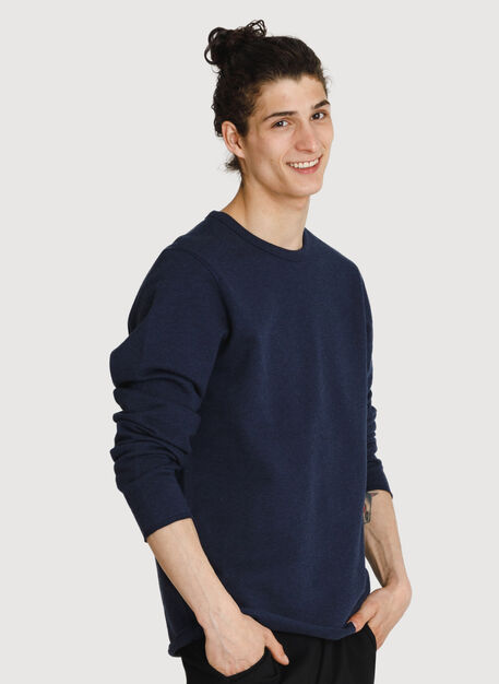 Coasting Crewneck Sweater, Heather Deep Navy | Kit and Ace