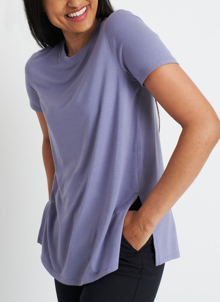At Ease Tee, Lavender Grey   Kit and Ace