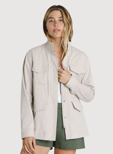Stretch Cotton Jacket, Chateau Grey | Kit and Ace