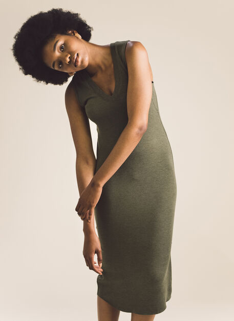 Good Feels Sleeveless Dress, Heather Moss | Kit and Ace