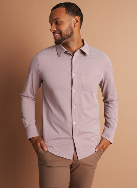 City Tech Classic Shirt, Coffee Chambray | Kit and Ace
