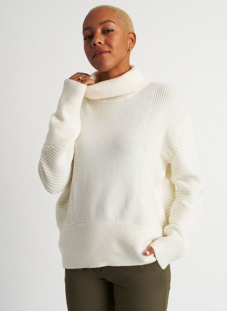 Ash Turtleneck Sweater, ECRU | Kit and Ace