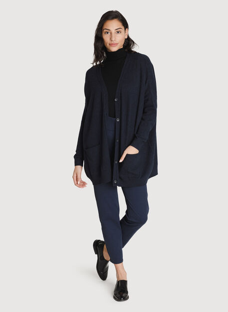 Travel On Cardigan, HTHR DK Navy | Kit and Ace