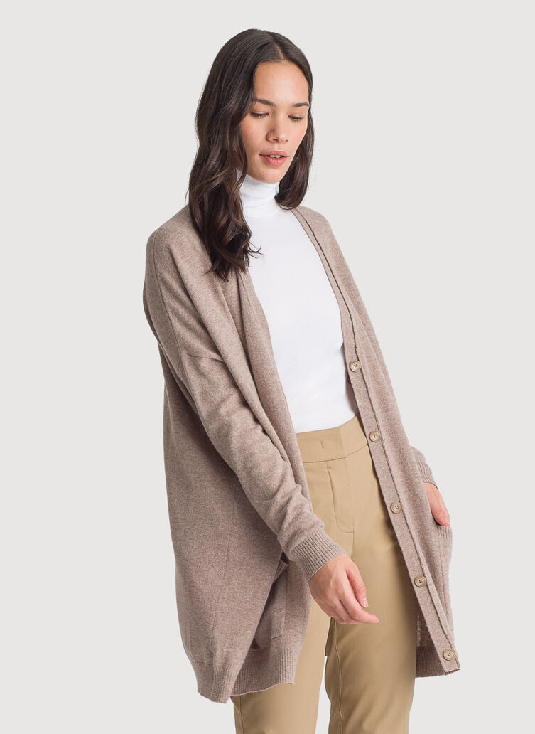 Travel On Cardigan, HTHR Warm Taupe | Kit and Ace