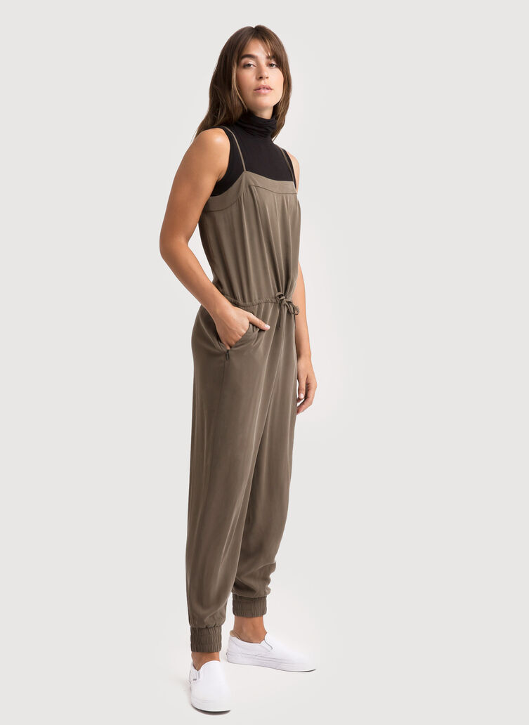 Easy Breezy Stretch Jumpsuit, Moss | Kit and Ace
