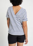 Back to Front Tee, White Multi Stripe | Kit and Ace