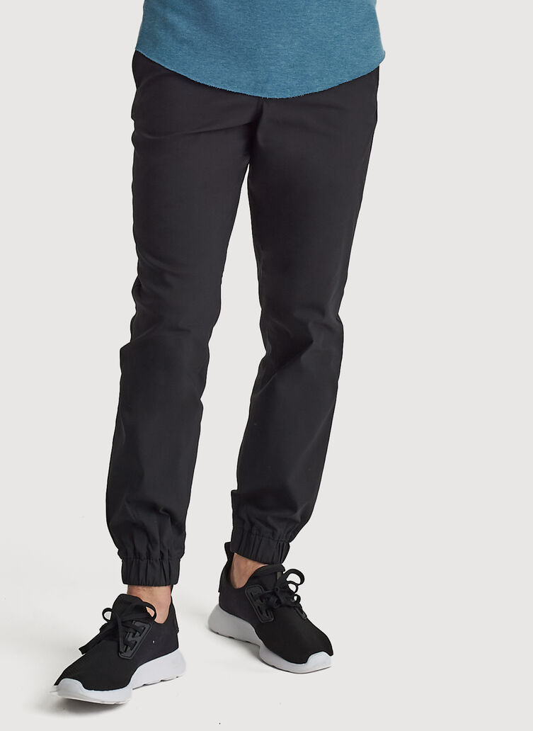Navigator Commute Jogger Slim Fit, BLACK | Kit and Ace