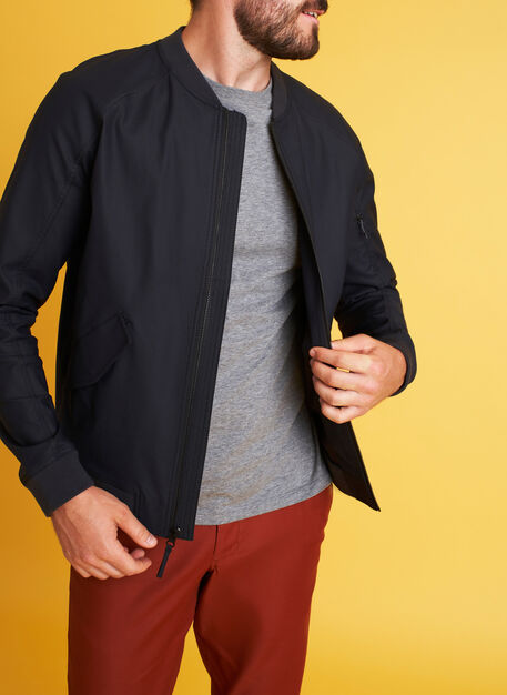 Full Potential Bomber Jacket, Black | Kit and Ace