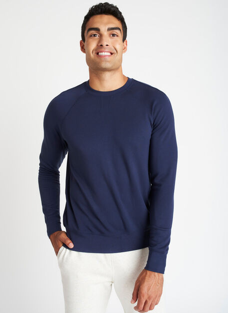 Chillin Brushed Pullover, Dark Navy | Kit and Ace