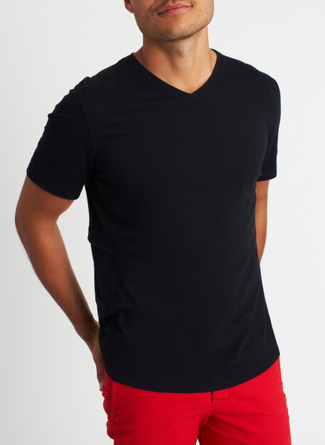 Stash and Ride V-Neck Tee, Black | Kit and Ace