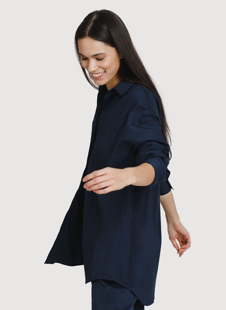 Boyfriend Blouse, DK Navy | Kit and Ace