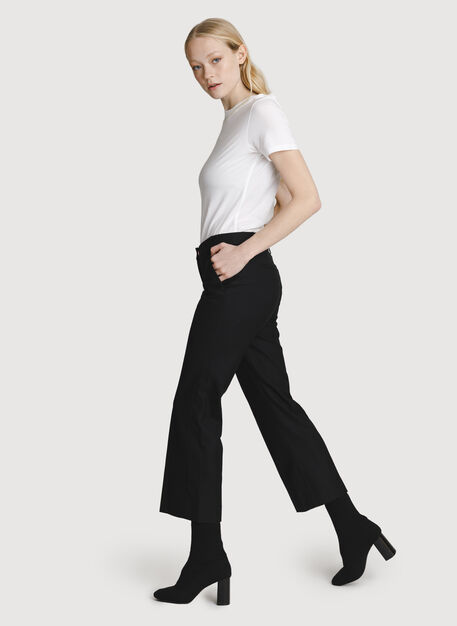 Baby Flare Trouser, BLACK | Kit and Ace