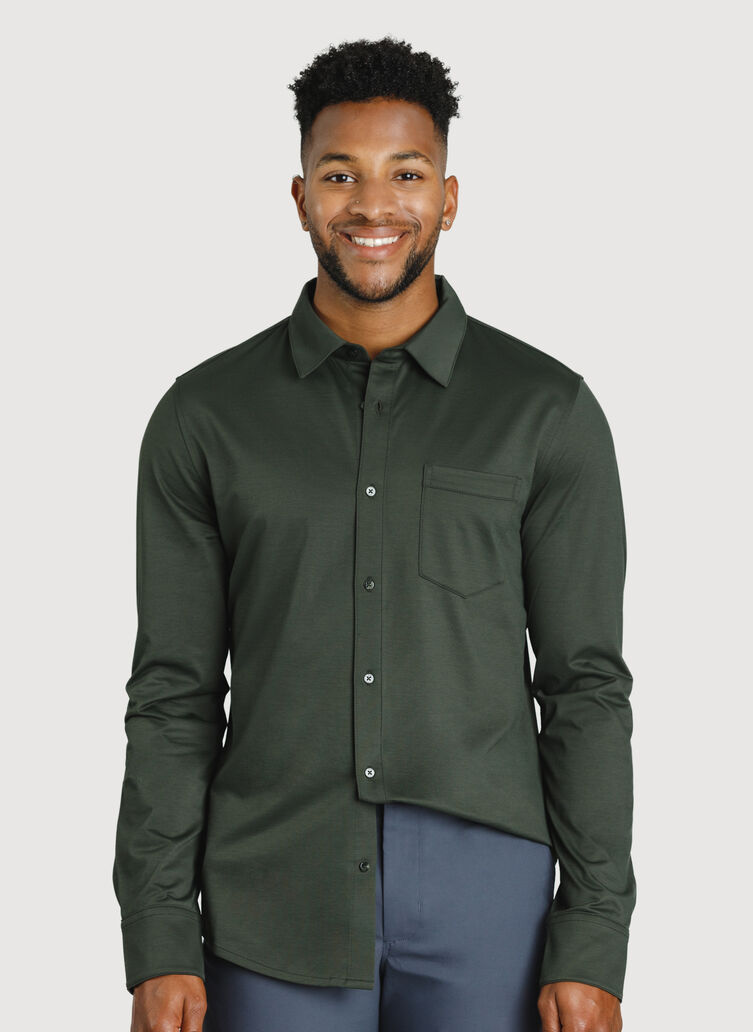 City Tech Classic Shirt, Deep Forest | Kit and Ace