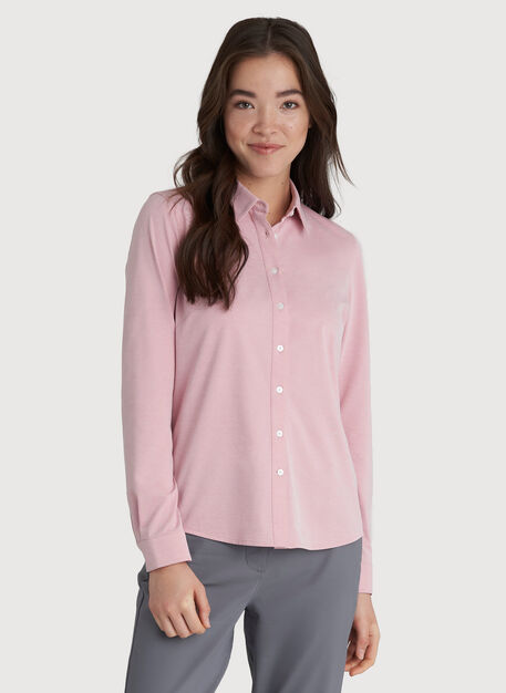 O.T.M. Classic Blouse, Dusty Rose Chambray | Kit and Ace