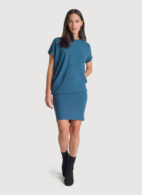 Brushed Wave Dress, HTHR Legion Blue | Kit and Ace