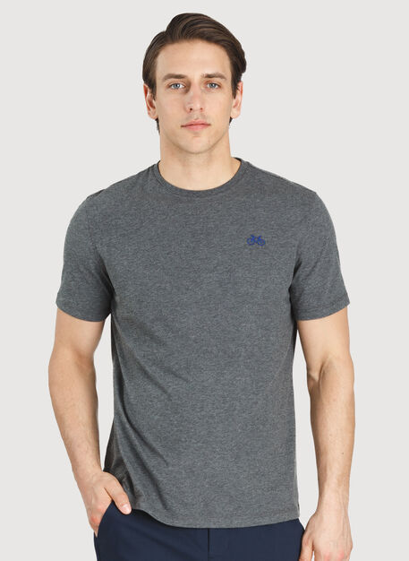Motion Crew Tee, HTHR Charcoal | Kit and Ace