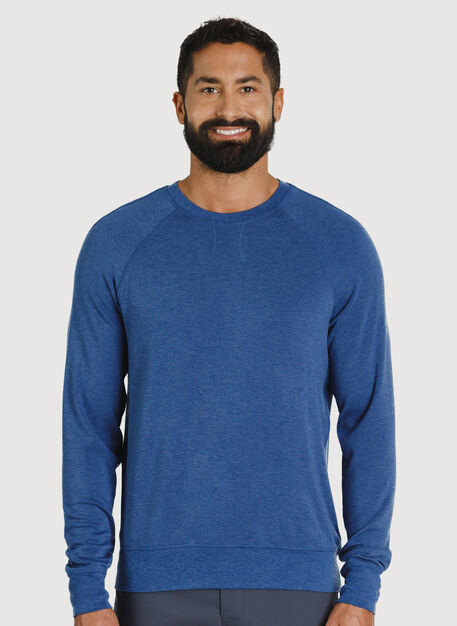 Chillin Pullover, HTHR Blue Indigo | Kit and Ace